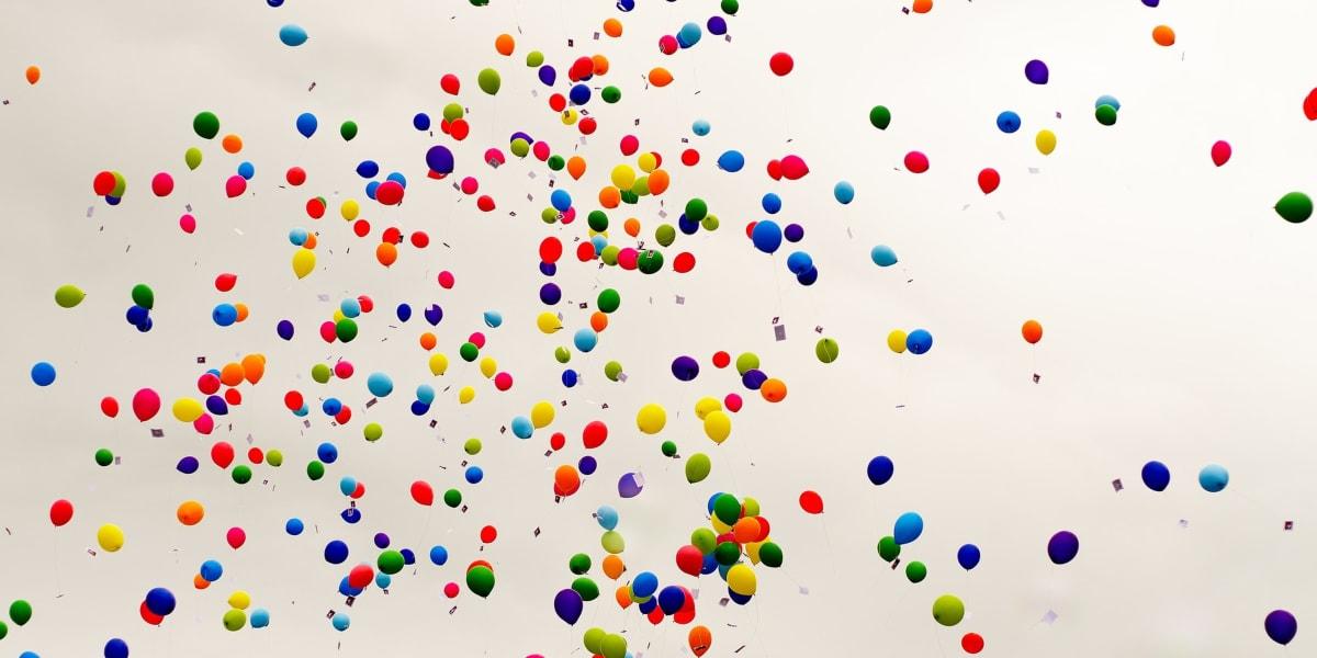 balon sky dancer promosi